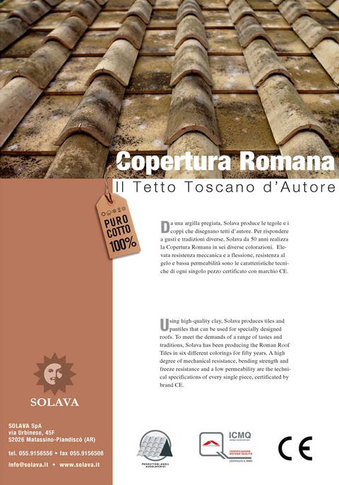 Vernaccia and Sangiovese Roof Tiles