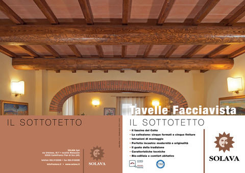 Brochure Facing Ceiling Tiles