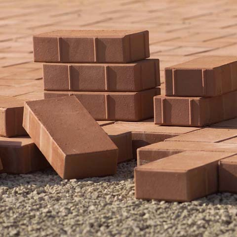 Cottobloc, clay bricks and listels